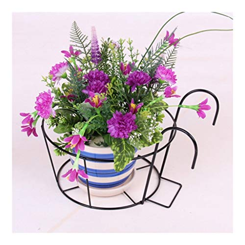 XYHX Metal Mini Flower Plants Pot Stand Rack Plank Creatieve indoor en outdoor reling hek opknoping bloem pot rack plantenstandaard (6 te koop)
