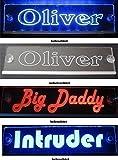 Schmalz Werbeservice Trucker LKW Namensschild Größe 30x10 cm - LED Acryl Leuchtschild 12V 24V mit...
