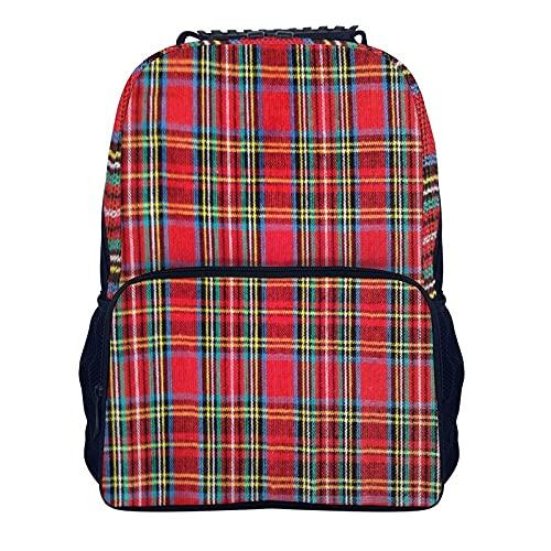 16 pulgadas hombro mochila tejida tartán cuadros 40x28x16cm básica viaje mochila para escuela Bookbag