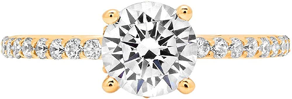 Clara Pucci National products 1.54 ct Brilliant OFFicial mail order Round CZ Des Cut Simulated Diamond