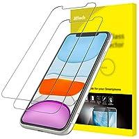 NOTE: En raison du bord arrondi de iPhone 11 et iPhone XR, le protecteur d'écran ne sera pas couvrir le plein écran, mais seulement la zone plate Fabriqué avec 0.33mm de haute qualité verre épais premium trempé avec des bords arrondis exclusivement p...