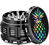 Grinder For Herb Spice Dry Herb Vaporizer Shredder Accessories Chromium Crusher Raw With Keef Catcher Bowls Small Large 4 Inch Pink Fine Titanium Mill 2.5' 4 Pieces (Black)…