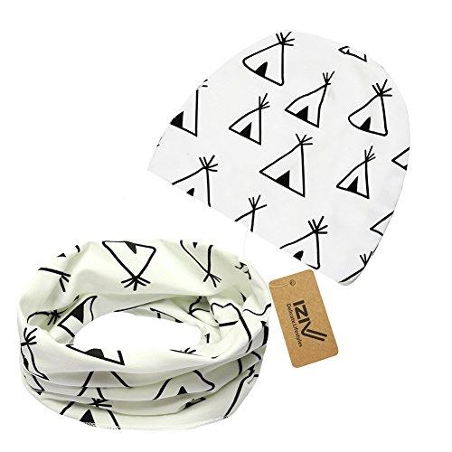 iZiv Cappello Berretto Cute Baby Sciarpa del Cotone dei Bambini Sciarpa per Bambino 0-3 anni (Bianco)