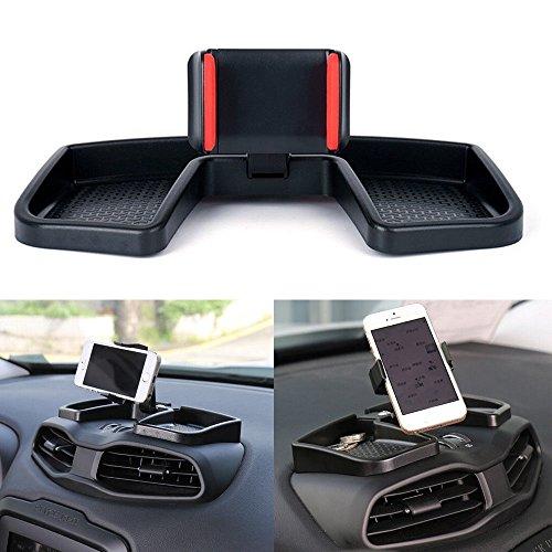Portacellulare / porta GPS da cruscotto, colore: nero