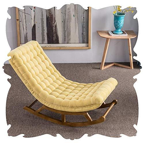 Lounge Chair Mecedora Silla de Playa Interiores Patio Mecedora clásico Salón Sillón tapizado de Agua Cojín Prueba Asientos Retro tumbonas Patio Patios Traseros basculantes 5 Color