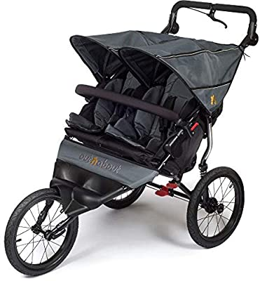 Out n About Nipper Sport V4Doppel-Buggy Stahl Grau