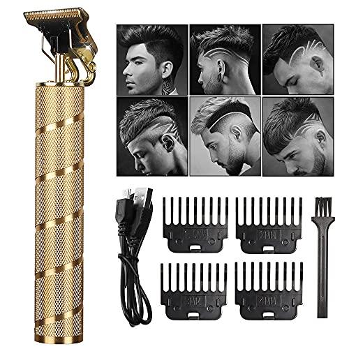 Professional Clippers pelo para hombre Cero rapado Sin cable Recortador Clipper Pelo Recargable USB Con 4 peines guía Kit aseo corte corte la barba Para hombres mujeres y niños