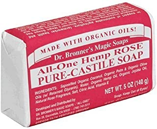 Dr. Bronner's Magic Soaps Pure-Castile Soap, All-One Hemp Rose, 5-Ounce Bars (Pack of 6) Color: Rose Model: (Newborn, Chil...