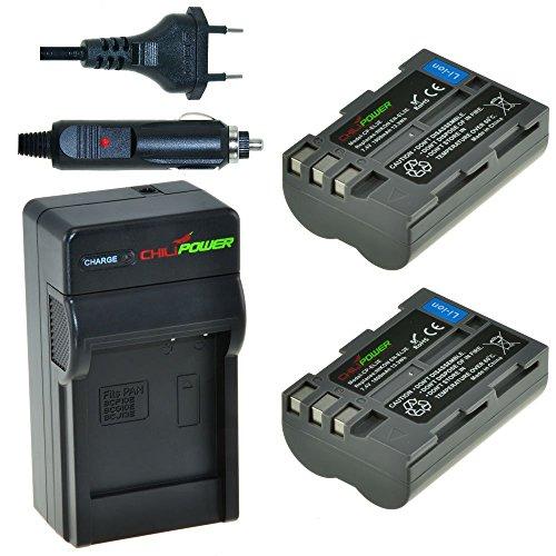 Chili Power EN-EL3e Kit: 2x Batería + Cargador para Nikon D90, D700, D300, D80, D70, D50, D200, D300s, D100, D70s