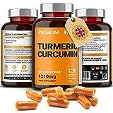 Curcumina di Curcuma con Estratto di Pepe Nero (Bioperine) - Capsule 1210mg per Vegani - Senza Additivi o Leganti - Senza Glutine e No GMO