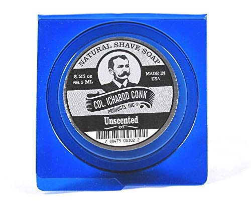 Colonel Conk, Shave Soap Unscented, 2.25 Ounce