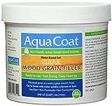 Aqua Coat, Best Wood Grain Filler. Clear Gel, Water Based, Low odor, Fast Drying, Non Toxic, Environmentally Friendly. Quart.