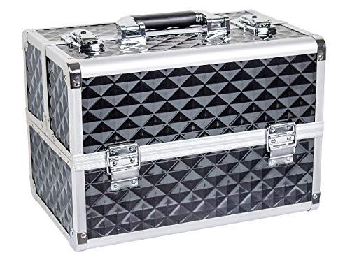 Beauty Koffer Diamond Aluminium Schwarz - Beauty Schmink Case