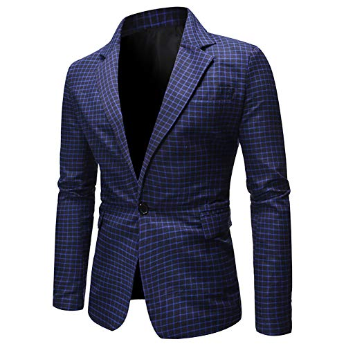 Story of life heren casual geruit pak, plus grootte polyester losse jas blazer, mode bruiloft prom party smoking mantel