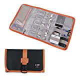 Electronic Organizer, BUBM Travel Cable Bag/USB Drive Shuttle Case/Electronics Accessory Organizer for Home Office-Black