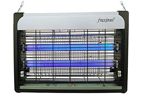 fraxinus Tue Mouche Electrique, Anti Moustique Lampe 20W UV, D' Insectes Destructeur, Attrape Piege A Mouche Efficace Portée 1000 sq.ft. [EU Plug]