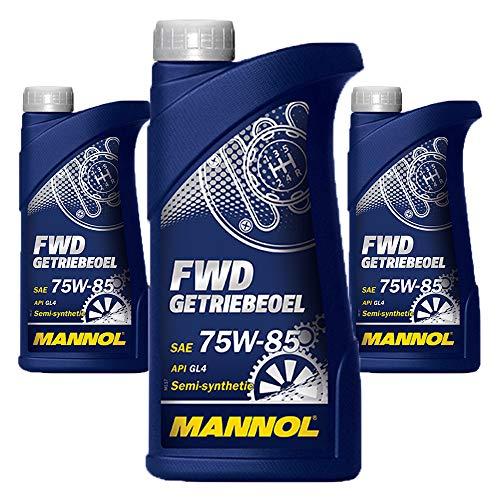 MANNOL 3 x 1 Liter FWD Getriebeöl 75W-85 GL-4