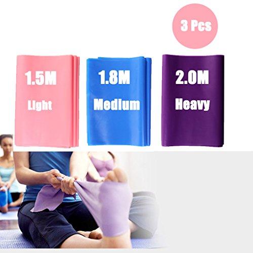 DoGeek-3x Bandas de Resistencia para Pilates Yoga