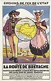 Bretagne Route Kunstdruck Poster, Format 50 x 70 cm, 300 g,