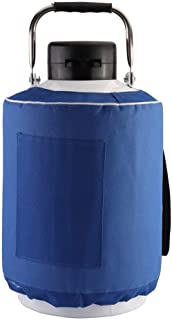 20L Cryogenic Liquid Nitrogen Container LN2 Tank Dewar Semen Flask W/Carry Bag (20L)