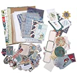 TSLBW - Set di 88 adesivi in carta Washi per scrapbooking, decorazioni fai da te, decorazioni naturali, per scrapbooking, artigianato, fai da te, proiettile