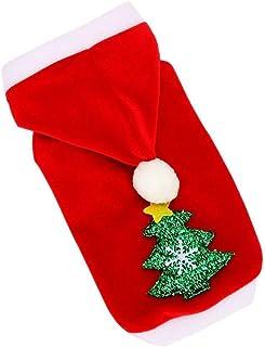 ZALIANG Ropa para Mascotas Ropa para Perros Suministros de Navidad Copo de Nieve Árbol de Navidad