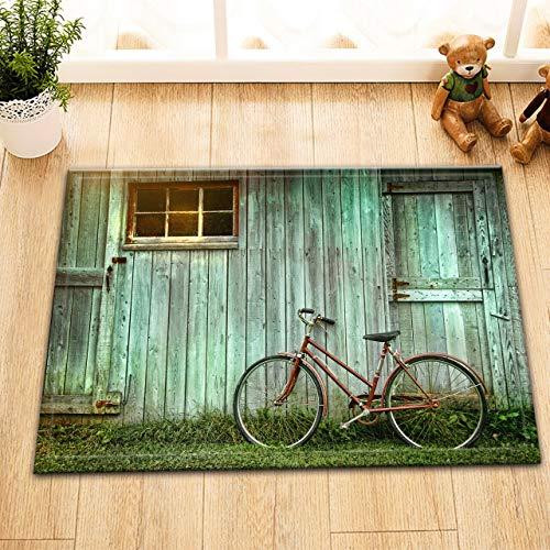 NNAYD1996 groene oude houten schuur raam deur fiets 3D-printen, badkamer accessoires, voordeur, achterdeur, keuken, woonkamer, toilet
