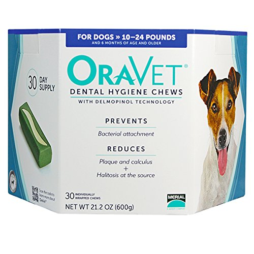 Oravet Dental Hygiene Chews, 10-24 lb, 30, 3 pk + $8 off purchase with attached Rebate Form.