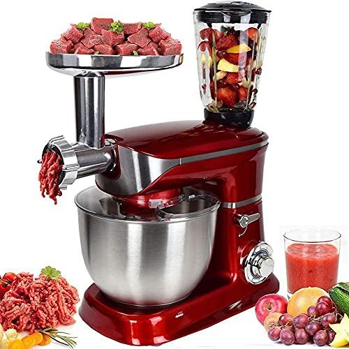 robot da cucina 3 in 1 PKM-1900.7BG Impastatrice, tritacarne, frullatore ROYALTYLINE 6,5l 1900W (rosso)