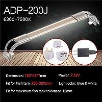 水槽ライト アクアリウムはアクアリウムのための魚飼育用の水槽ランプのためのアクアリウム7500Kの超薄いアルミ合金ライトのための照明を導きました (Color : ADP 200J)