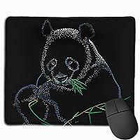 パンダ マウスパッド 25x30cm レーザー&光学マウス対応 防水/洗える/滑り止め 中型 ブラック
