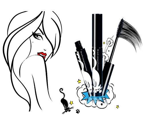 Lovely Mascara Lash Waterproof Smudge Proof Hypoallergenic Non-toxic Natural Thickening Lengthening Black Eyelash Washable Young Lady
