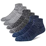 +MD Mens Bamboo Athletic Ankle Socks Extra Cushioned Running Quarter Socks with Seamless Toe 2Black2Grey2Navy10-13