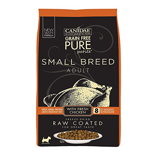 Canidae Pure Petite Raw Coated Chicken Dog Food 4Lb