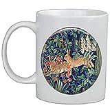 Taza de café con diseño de conejo en el bosque AS015