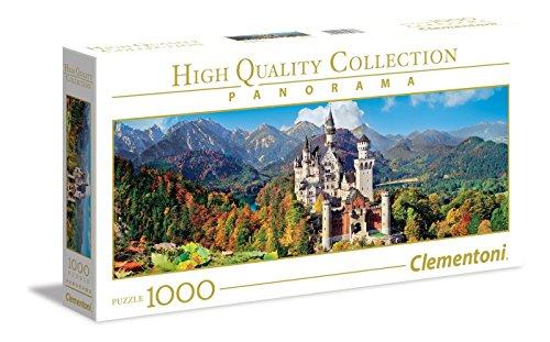 Clementoni 8005125394388 Neuschwanstein Puzzle NP Panorama, 1000 Teile