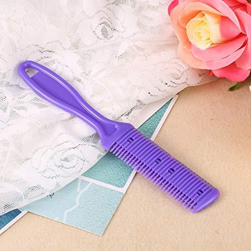 minifinker Peine de Adelgazamiento, Peine de peluquería Profesional práctico púrpura para el hogar para peluquería