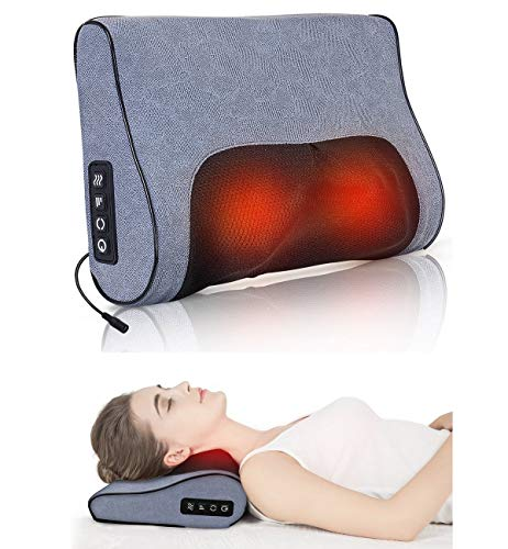 Boriwat Neck Massager Pillow with Heat, Shiatsu Neck & Back Massager Kneading, 3D Massage Pillow for Neck Pain Relief, Relaxation Gifts for Women & Men