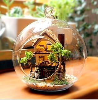 AZ(エーゼット) オシャレな球体ガラス ミニチュア ドール ハウス 山小屋 ログハウス