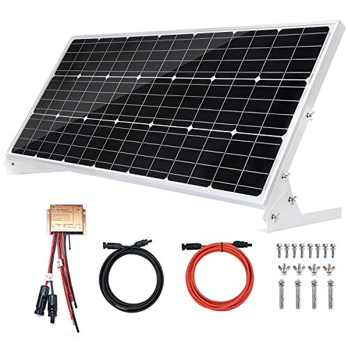 100W 12V Paneles solares monocristalinos 100 vatios 12 voltios solar módulo Mono ideal para autocaravanas casa de jardín barco