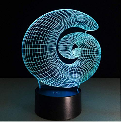 Figura creativa Led Abajur, luces de noche coloridas, lámparas de mesa 3D,...