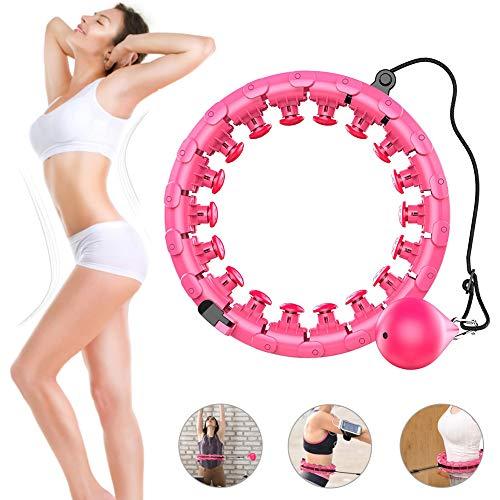 CABINA HOME Hoola-Hoop-Reifen Einstellbar Fitness Reifen mit Massagenoppe Abnehmbare Hoola Hoop für Fitness Gewichtsverlust Fitness-Training und Massage