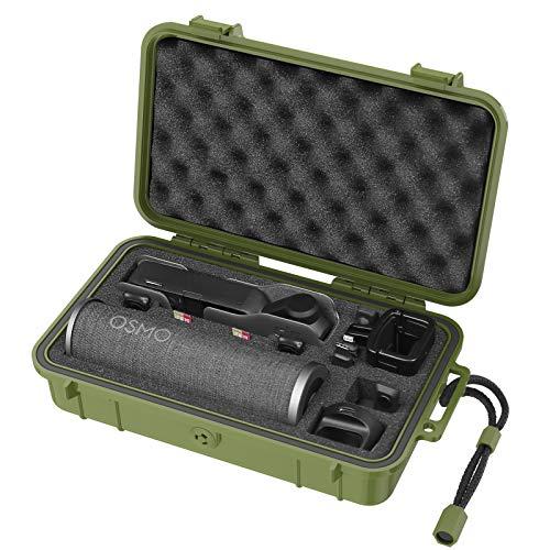 Smatree Capa rígida à prova d'água compatível com DJI Osmo Pocket 2/Osmo Pocket Camera e acessórios (verde)