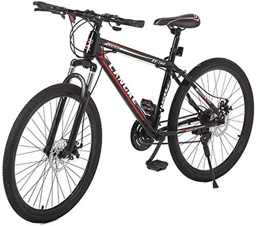 Sospensione da soffitto per adulti BMX maschio e femmina 26 pollici 21-Speed ammortizzante lega di alluminio Mountain Bike, nero-rosso