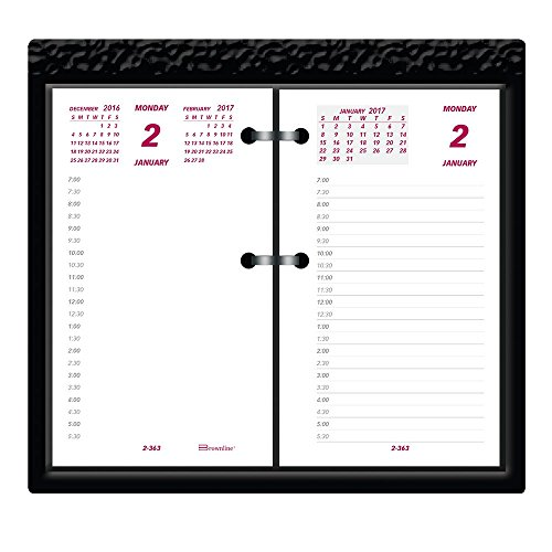 Brownline 2017 Calendario da scrivania'Jumbo', ricarica, 15,2 x 8,9 cm (C2R-17)