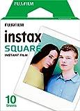 Fujifilm Instax Square - Pack de 10 fotografías, Color Blanco