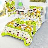 Parure de lit avec housse de couette et taie d'oreiller pour lit de bébé/lit de bébé/enfant 100%...