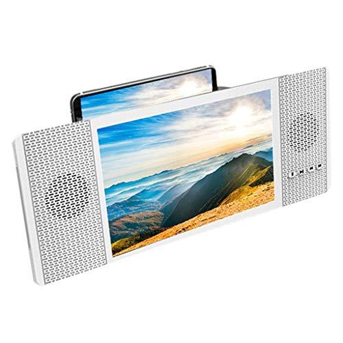 TQAME Vergrootglas voor 8 inch beeldscherm met audio luidspreker voor smartphone, HD-display, 3D-display, Retrattile, versterker voor beamer FM-radio