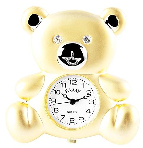 Fame Analog Miniaturuhr Quarzwerk Motiv Teddybär 300412000133 Gehäuse 4,7cm