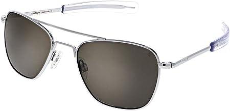 Randolph Bright Chrome Classic Aviator Sunglasses for Men or Women 100% UV